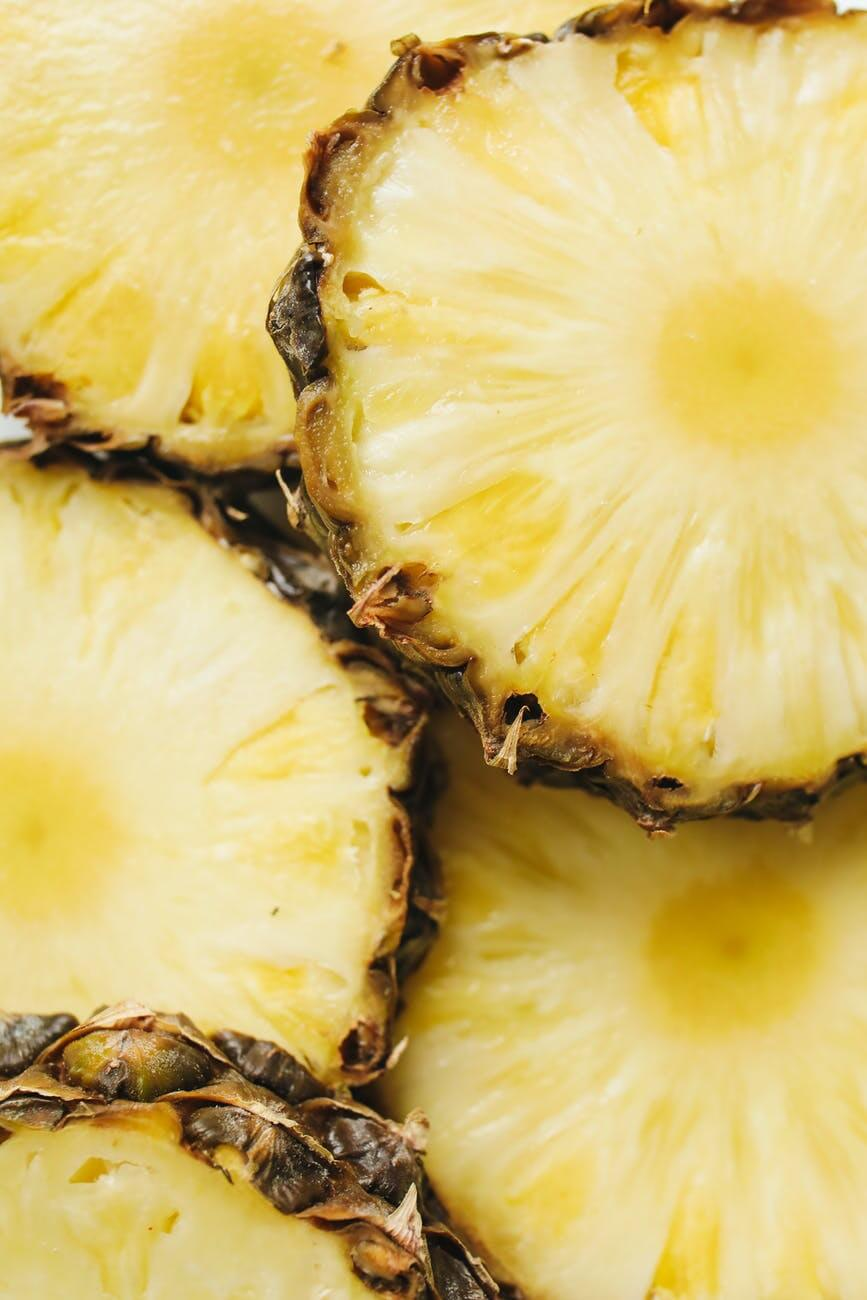 close up photo of sliced pineapple