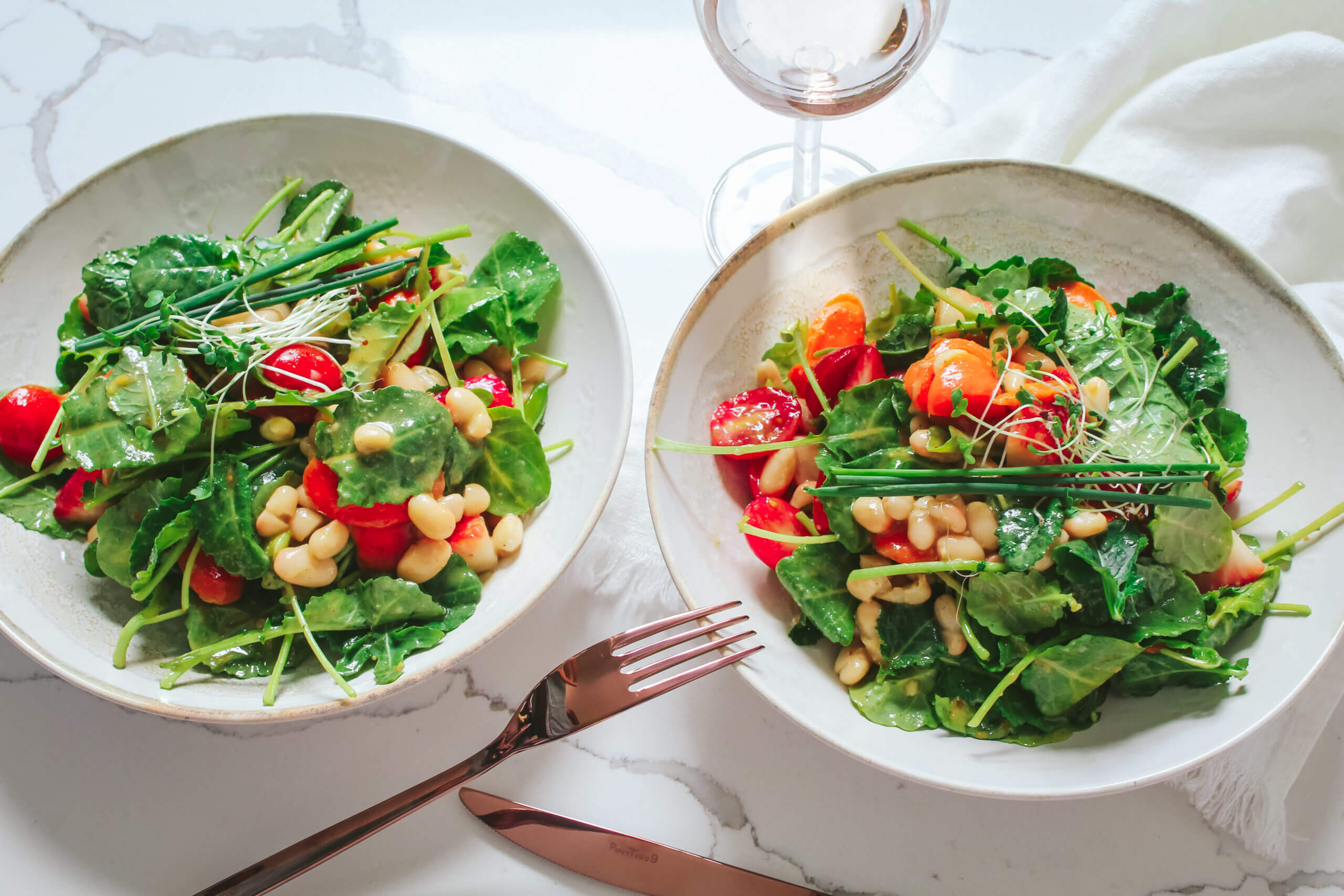 the perfect spring summer salad