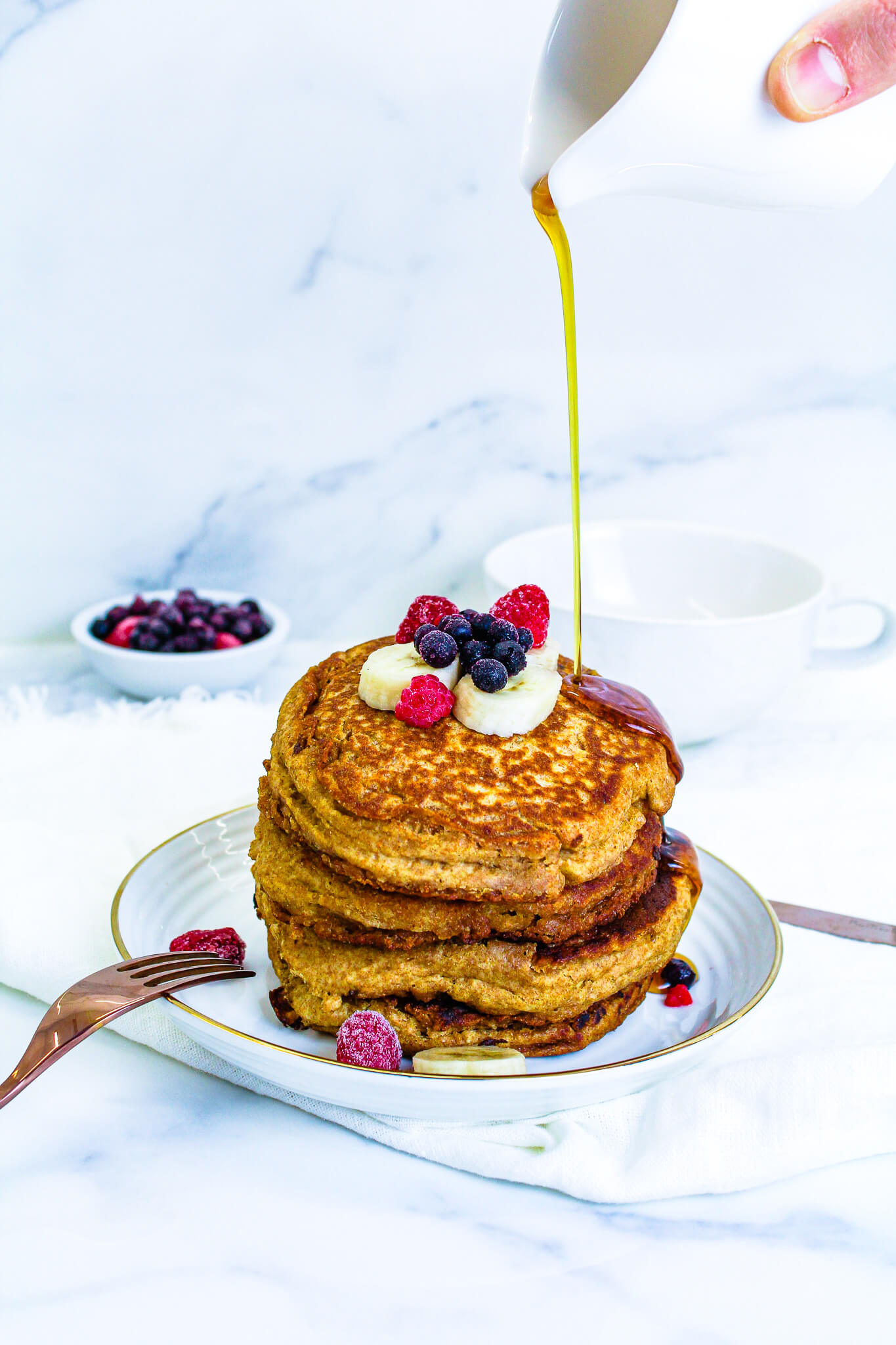 Sustainable and Plant-based Lifestyle influencer shares her delicious NOURISHING PANCAKES recipe!