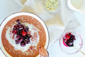 Sustainable and Plant-based Lifestyle influencer shares her delicious Velvet Cherry oatmeal recipe!