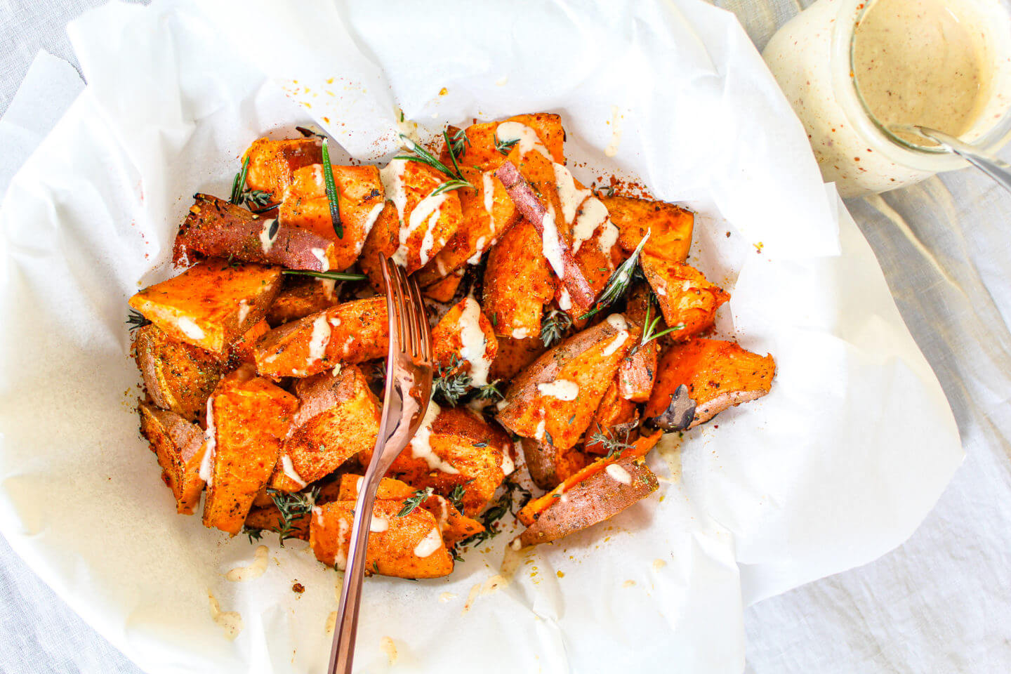 Sustainable and Plant-based Lifestyle influencer shares her delicious Sanza's sweet Bravas recipe!